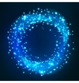 Sparkling light Glittering circle space whirl vector image