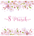 8 March - Womens Day Greeting Card Template vector image