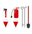 a set of fire tools vector image vector image