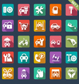auto service icon set - flat design vector image