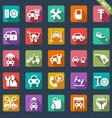 auto service icon set - flat design vector image vector image