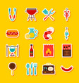 bbq party stickers vector image vector image