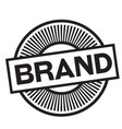 brand rubber stamp vector image