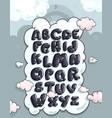 Cartoon bubble alphabet