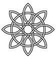 celtic knot petals and circle nature vector image