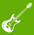 classical electric guitar icon green vector image vector image
