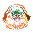 colorful decorative portrait of dog pekingese vector image vector image