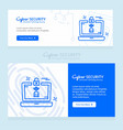 cyber security design with creative design and vector image