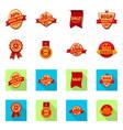 design of emblem and badge symbol set of vector image vector image