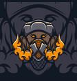 dog safety mask vector image vector image