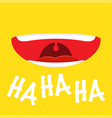 emotion loud laughter april fools day vector image
