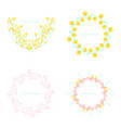 floral elementscolorful floral collection with vector image vector image
