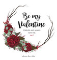 floral greeting valentine card design with flowers vector image vector image