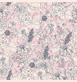 floral seamless pattern with flowers vintage vector image vector image