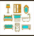 furniture colorful set for domestic usage isolated vector image vector image