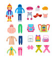 girl dressed in warm clothes for cold weather vector image vector image