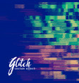 glitch signal error background vector image vector image