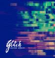 glitch signal error background vector image