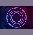 glowing neon gear abstract technology background vector image vector image