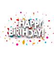 Happy birthday paper card vector image vector image