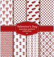 happy valentines day set love and romantic vector image