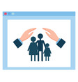 health or medical insurance hands protect family vector image