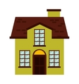 house building isolated icon vector image vector image