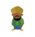 indian ethic man cartoon vector image vector image