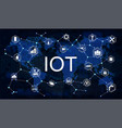 internet of things iot vector image