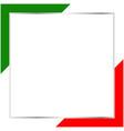 italian green white red flag border frame vector image vector image