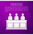 Jurors flat icon on purple background vector image vector image