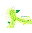 leafy lines vector image vector image