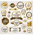 luxury labels set vector image vector image