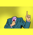man pointing finger up vector image vector image