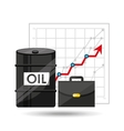 oil and petroleum industry increasing graph vector image vector image