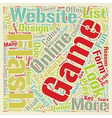 Online Flash Games text background wordcloud vector image vector image