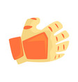 orange sport glove handball sport equipment vector image vector image