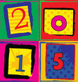 Pop art styled card for new years vector image vector image