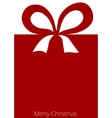 Present with ribbon bow vector image vector image