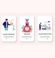 salary mobile app onboarding screens vector image vector image