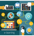 School Online E-Learning E-Book Media Connect vector image vector image