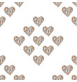 seamless pattern animal wildlife heart vector image vector image