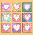 set of card templates to valentines day vector image vector image