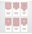 Set of flyer templates mehndi design