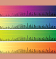 shenzhen multiple color gradient skyline banner vector image vector image