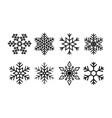 snowflake for christmas icon geometric set of vector image vector image