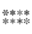 snowflake for christmas icon geometric set vector image