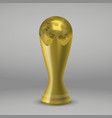 soccer gold cup vector image