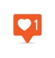 social media notification sign icon in flat style vector image vector image