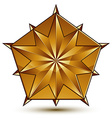 Sophisticated golden star emblem 3d decorative vector image vector image